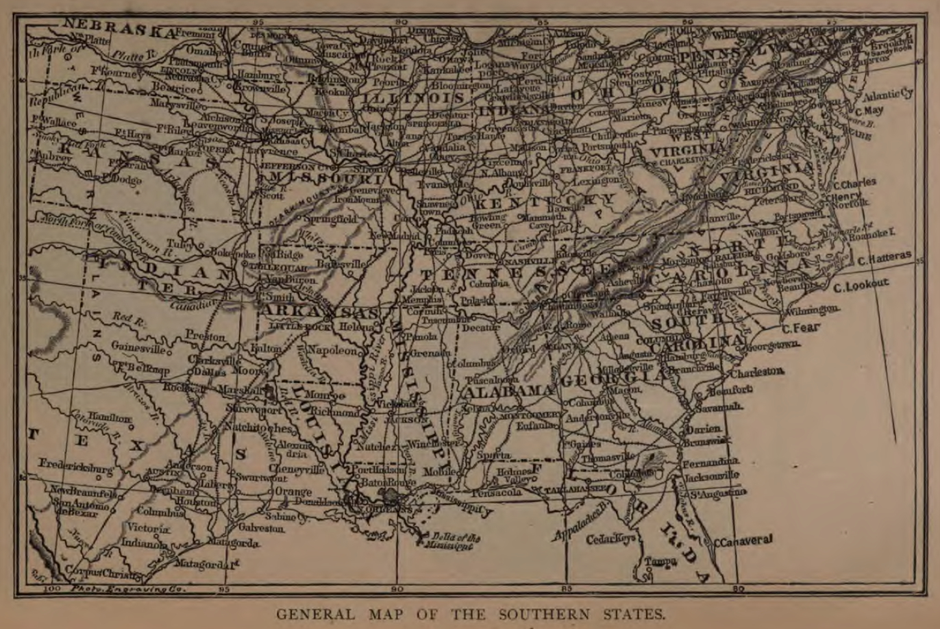 General Map of the Southern States